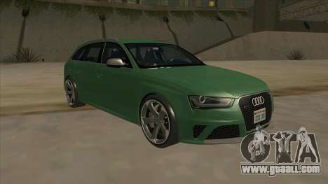 Audi RS4 Avant B8 2013 V2.0 for GTA San Andreas back view