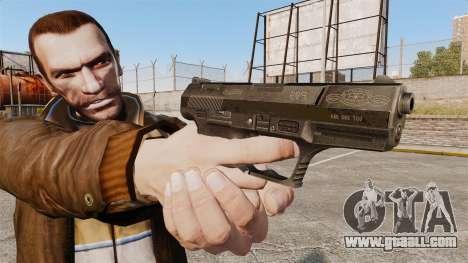 Walther P99 semi-automatic pistol v4 for GTA 4 third screenshot