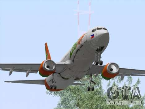 Boeing 737-800 Zest Air for GTA San Andreas inner view