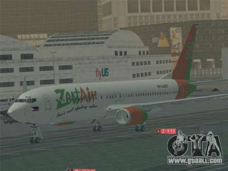 Boeing 737-800 Zest Air for GTA San Andreas engine