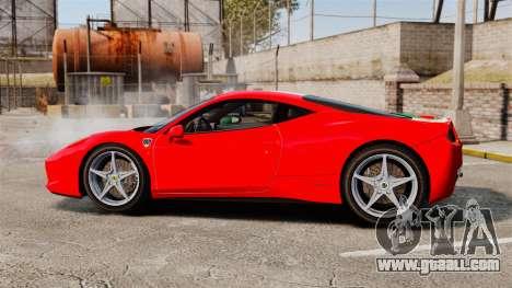 Ferrari 458 Italia 2010 Italian for GTA 4 left view