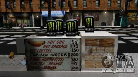 Energy drink Monster Energy for GTA 4