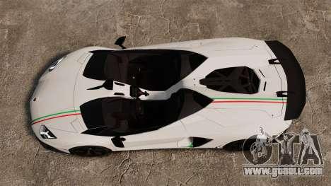 Lamborghini Aventador J 2012 Tricolore for GTA 4 back view