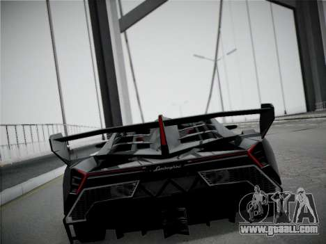 Lamborghini Veneno for GTA San Andreas inner view