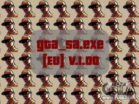 Original file gta_sa.exe [EU] v. 1.00 for GTA San Andreas
