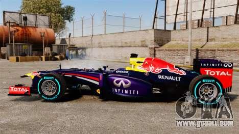 Car, Red Bull RB9 v1 for GTA 4 left view