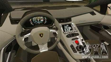 Lamborghini Aventador LP700-4 2012 v2.0 for GTA 4 inner view