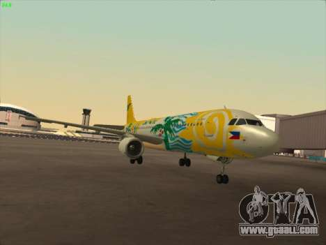 Airbus A320-211 Cebu Pacific Airlines for GTA San Andreas left view