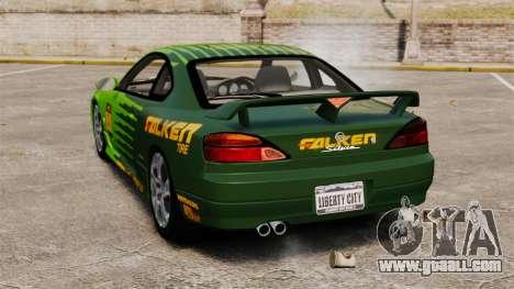 Nissan Silvia S15 v3 for GTA 4 back left view