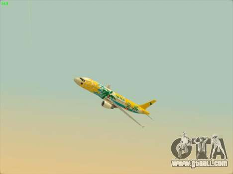 Airbus A320-211 Cebu Pacific Airlines for GTA San Andreas side view