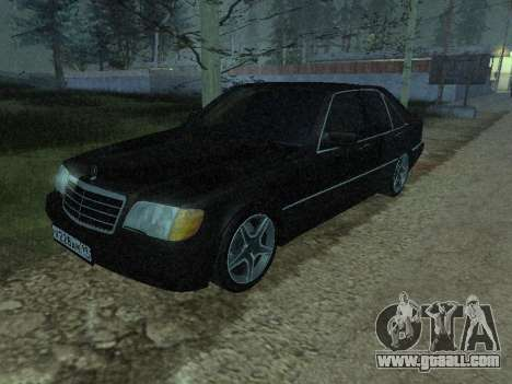 Mercedes-Benz w140 s600 for GTA San Andreas side view
