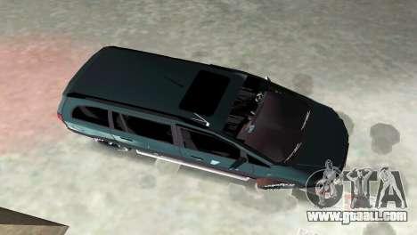 Opel Zafira for GTA Vice City inner view