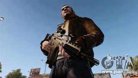 Assault rifle HK G36k for GTA 4 third screenshot