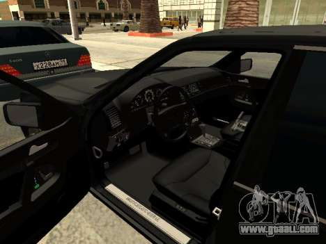 Mercedes-Benz w140 s600 for GTA San Andreas bottom view
