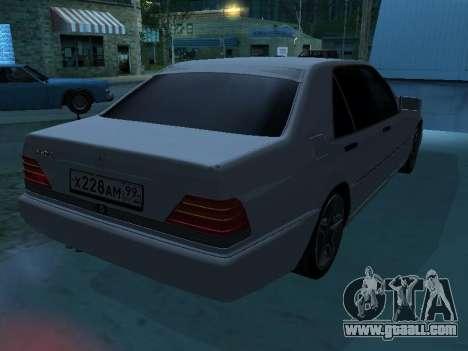Mercedes-Benz w140 s600 for GTA San Andreas interior