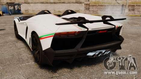Lamborghini Aventador J 2012 Tricolore for GTA 4 right view