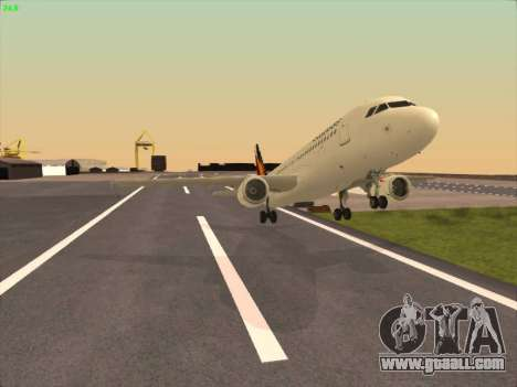 Airbus A320-211 Philippines Airlines for GTA San Andreas inner view