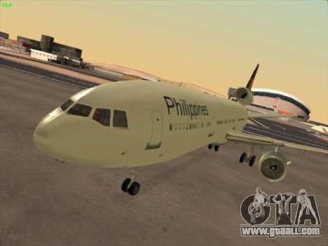 McDonell Douglas DC-10 Philippines Airlines for GTA San Andreas left view