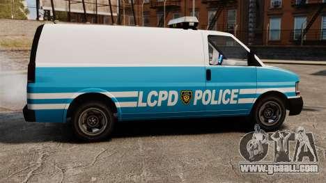 LCPD Police Van for GTA 4 left view