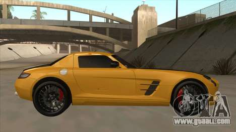 Mercedes SLS AMG Hamann 2010 V1.0 for GTA San Andreas back left view