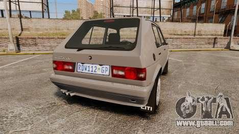 Volkswagen Citi Golf Velociti 2008 for GTA 4 back left view