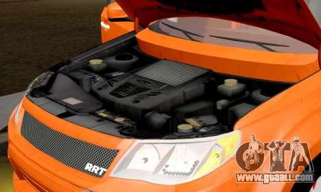 Subaru Forester RRT Sport 2008 v2.0 for GTA San Andreas inner view