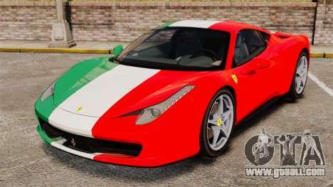 Ferrari 458 Italia 2010 Italian for GTA 4