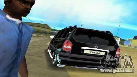 Opel Zafira for GTA Vice City side view