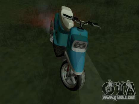 MBK Booster Spirit for GTA San Andreas back left view