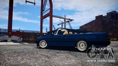 BMW M3 E30 Cabrio Stanced for GTA 4 back view