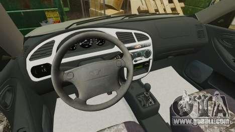 Daewoo Lanos FL 2001 for GTA 4 side view