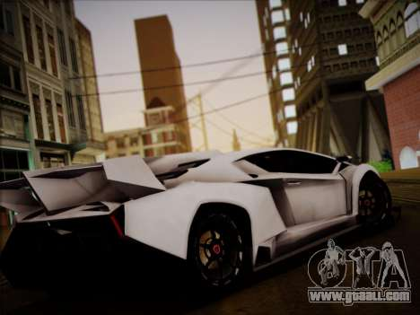 Lamborghini Veneno for GTA San Andreas back left view