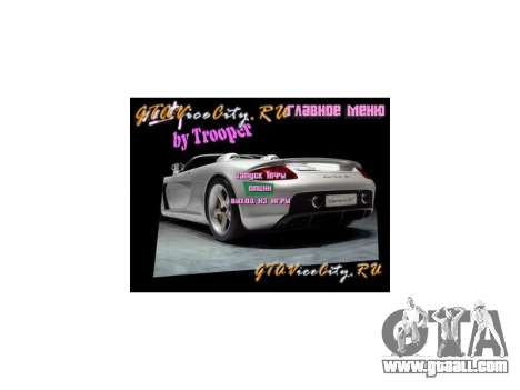 New background menu GTA Vice City for GTA Vice City