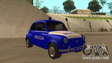 Zastava 750 Milicija for GTA San Andreas back view