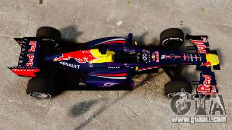 Car, Red Bull RB9 v4 for GTA 4 right view