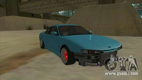 Nissan Silvia s14 Kouki Hellaflush for GTA San Andreas left view