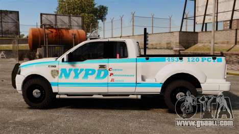 Ford F-150 v3.3 NYPD [ELS & EPM] v1 for GTA 4 left view