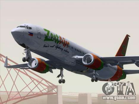 Boeing 737-800 Zest Air for GTA San Andreas left view
