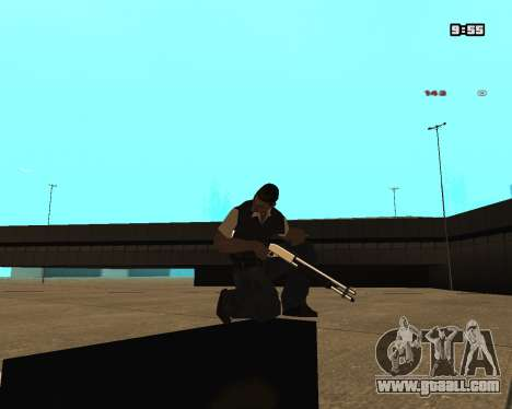 White Chrome Shotgun for GTA San Andreas second screenshot
