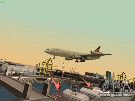 McDonell Douglas DC-10 Philippines Airlines for GTA San Andreas inner view