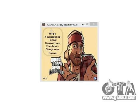 Crazy Trainer +350 v2.41 SA:MP for GTA San Andreas