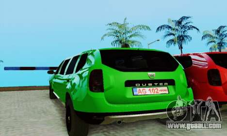 Dacia Duster Limo for GTA San Andreas left view