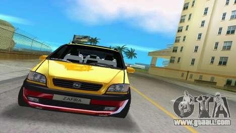 Opel Zafira for GTA Vice City left view