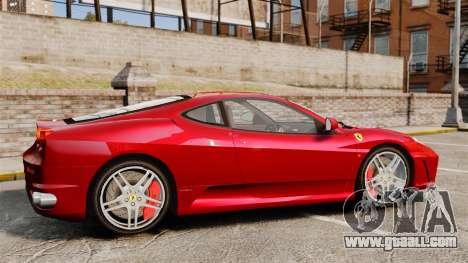 Ferrari F430 2005 for GTA 4 left view