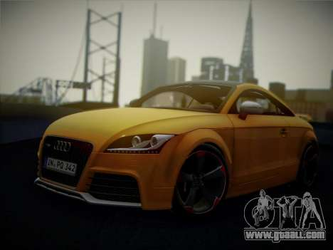Audi TT RS 2013 for GTA San Andreas back view