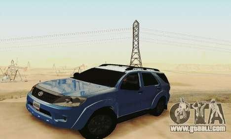 Toyota Fortuner Original 2013 for GTA San Andreas inner view