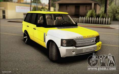 Land Rover Range Rover Gold Vossen for GTA San Andreas back left view