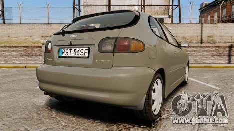 Daewoo Lanos FL 2001 for GTA 4 back left view