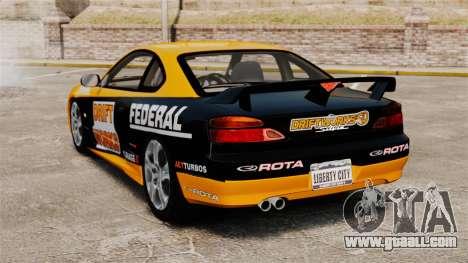 Nissan Silvia S15 v2 for GTA 4 back left view