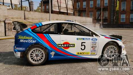 Ford Focus RS Martini WRC for GTA 4 left view